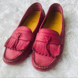 Cole Haan Leather Loafers Pink Size 8.5